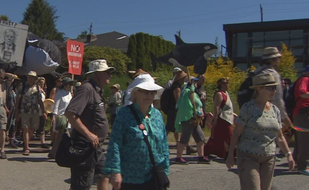 Walk for Salish Sea wide of Burnaby rally