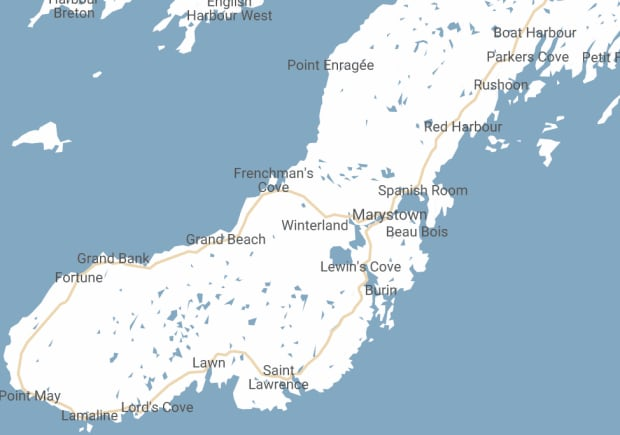 Burin Peninsula map