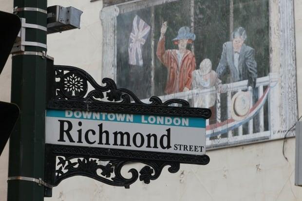 Richmond Street sign London Ontario