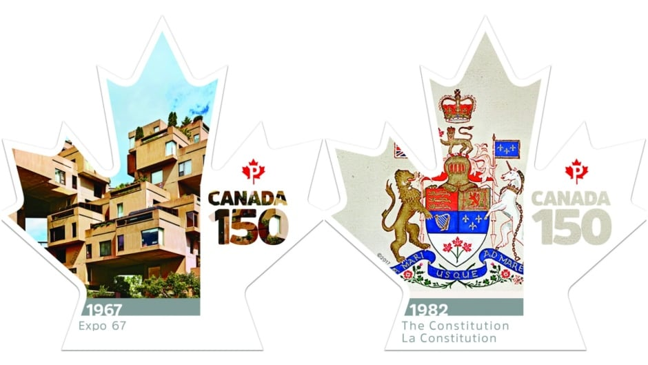 Canada 150 stamps - Expo 67 and The Constitution