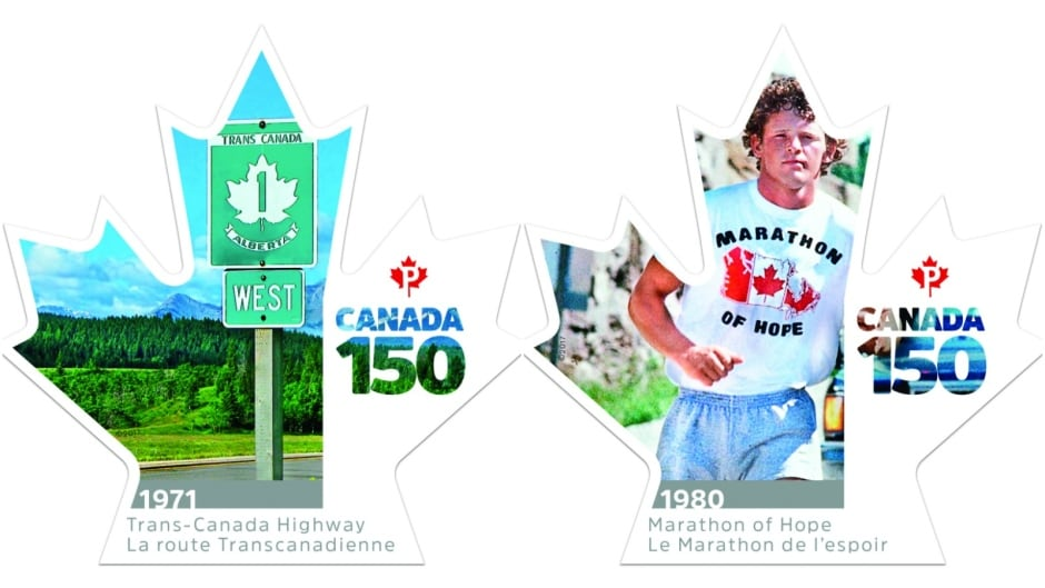 Canada 150 stamps - Trans-Canada Highway and Marathon of Hope
