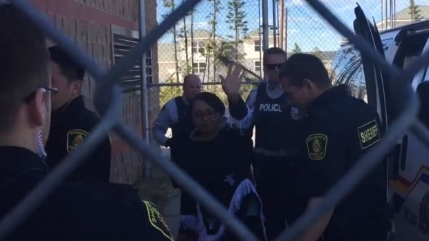 Beatrice Hunter was taken into custody Monday, after she told the court she would not promise to stay away from the Muskrat Falls construction site if released from custody.