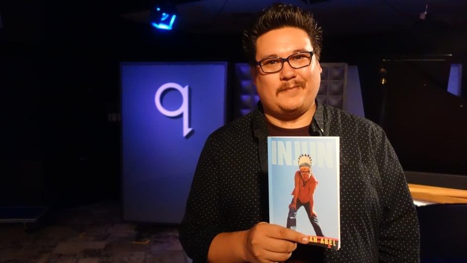 Poet Jordan Abel in the q studios in Toronto, Ont.