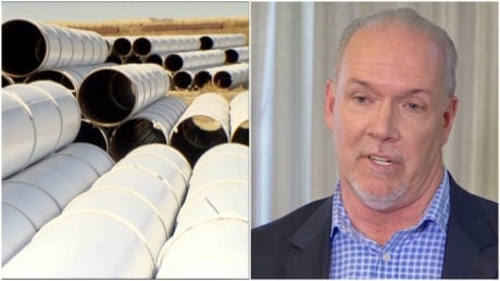 NDP leader John Horgan and pipelines