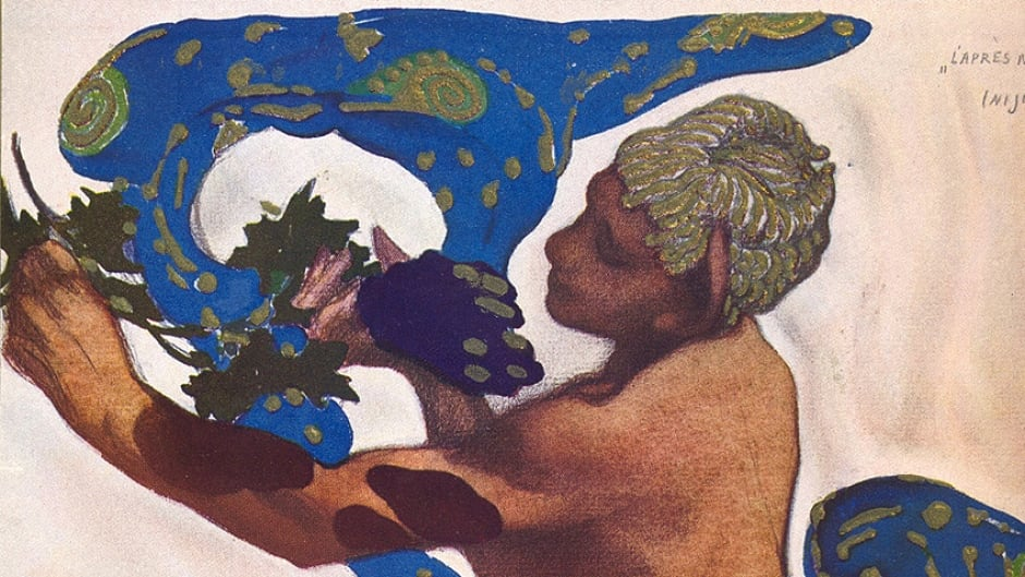 Detail from the programme illustration by Léon Bakst for the ballet L'Après-midi d'un faune by Vaslav Nijinsky, music by Claude Debussy which premiered on May 29, 1912 at the Théâtre du Châtelet in Paris.