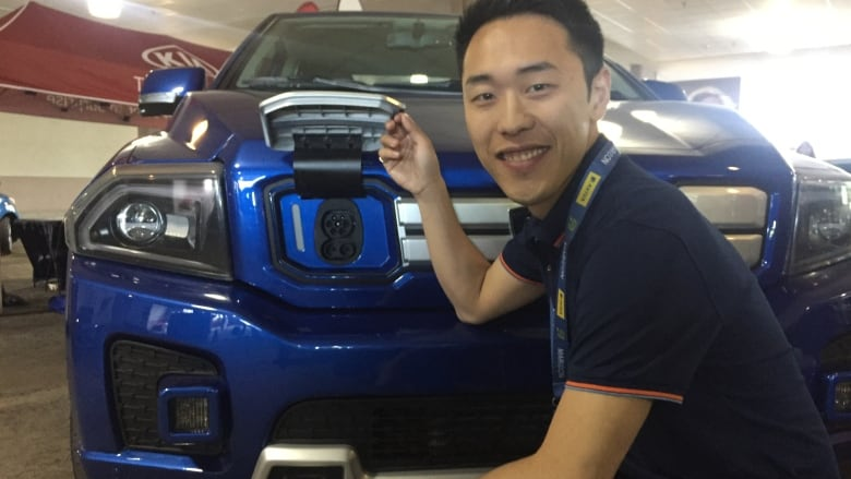 Electric pickup truck developed by U of T grad on display in