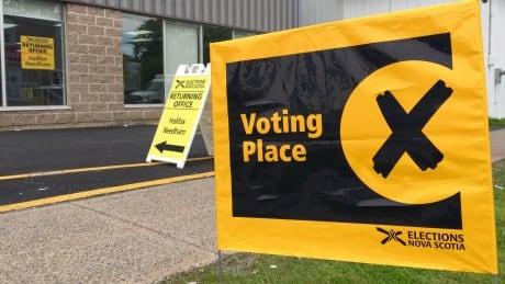 Voting sign Nova Scotia