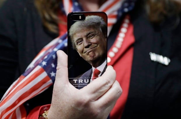 Image result for picture of trump on a cellphone