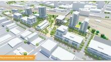 Draft plans for the Regina Railyard Renewal project
