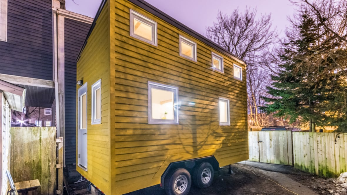 Tiny enough to tow engineer creates saltbox home on for Newfoundland house plans