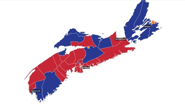 Map Of Canada 2017 Election Results.Cbc News Canada Nova Scotia Topic Tag Nova Scotia Votes 2017