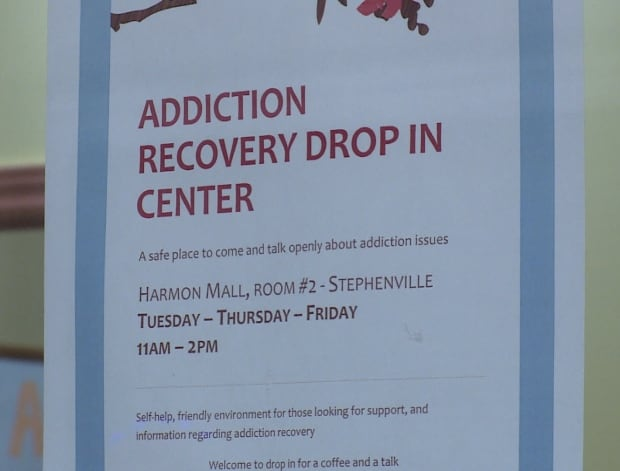 addictions centre sign stephenville