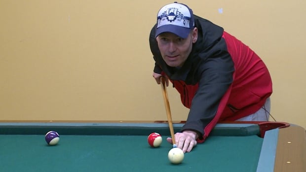 George Legge comes to the drop-in centre to play pool and talk about his alcohol and drug addictions.
