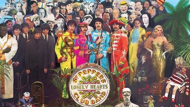 The cover for The Beatles album Sgt. Pepper's Lonely Hearts Club Band