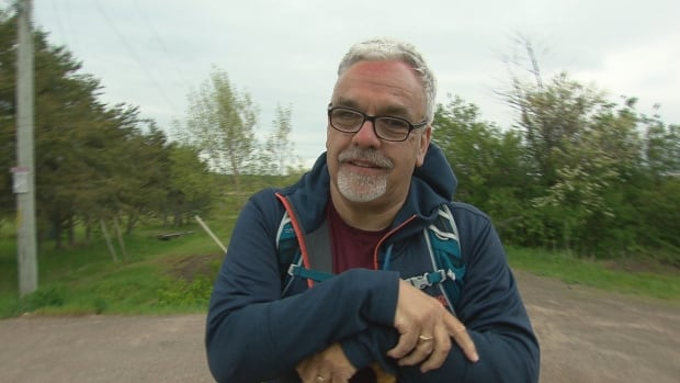 Bishop of Fredericton David Edwards was taking a walk in Pointe-du-Chêne on Wednesday as part of an annual pilgrimage, when he was approached by concerned residents.