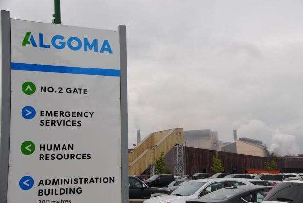 New Algoma sign at Sault Ste. Marie steel mill