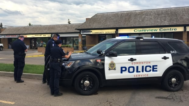 Edmonton police remain at the scene of a suspicious death in northeast Edmonton Thursday morning.
