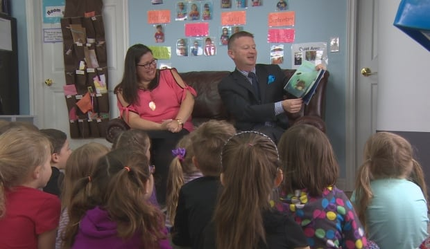 Education Minister Dale Kirby at Torbay Daycare