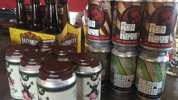 The Alberta system charges all small breweries $1.25 per litre solid, but returns a portion of that to Alberta brewers through a grant program.