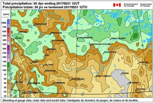 Hot And Stormy Start To June In Saskatchewan Saskatchewan CBC News - Map of saskatchewan