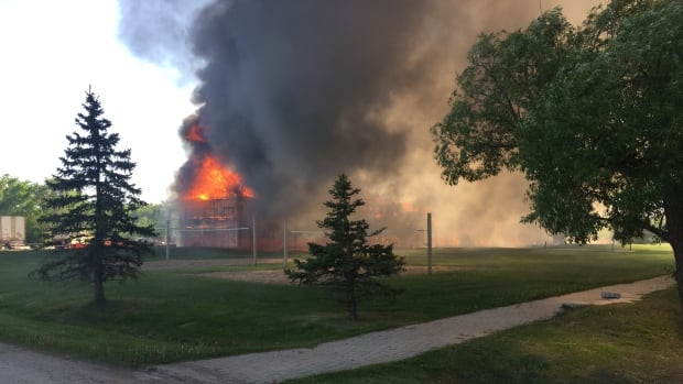 Fire Destroys Residence Building At Manitoba College   Manitoba   CBC News Part 92