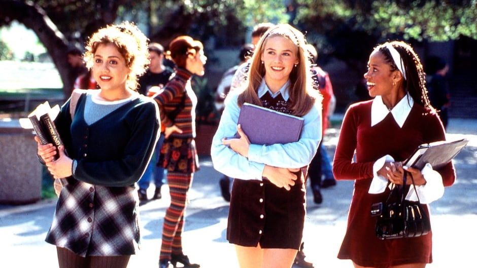 "In this undated photo provided by Paramount Pictures, Brittany Murphy, left, Alicia Silverstone, center, and Stacey Dash, are seen during production of the 1995 movie ""Clueless."""