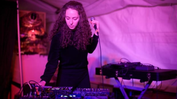 Winnipeg-based electronic musician Joanne Pollock performs at Big Fun. She says organizers of music festivals need to work harder to book more female performers.