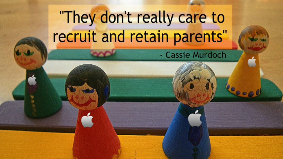 Mashable reporter Cassie Murdoch says Apple's lack of daycare isn't an oversight, it's a feature.