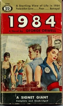 1984 Orwell book cover