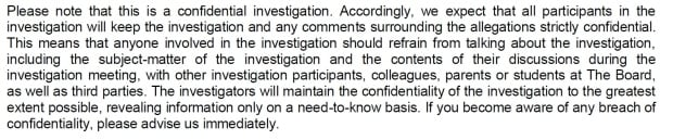 Excerpt from letter from DDSB hired lawyer