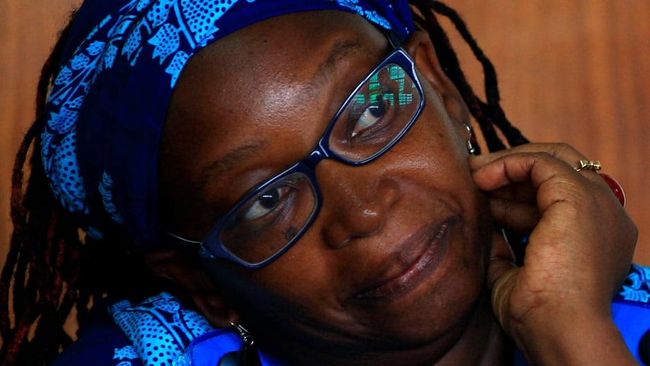 Stella Nyanzi stands in the dock at court in Kampala, Uganda, after she posted profanity-filled denunciations of president Yoweri Museveni on Facebook.