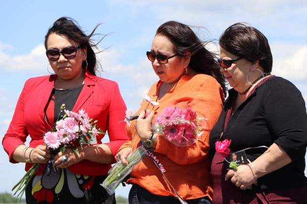MKO Grand Chief Sheila North Wilson brought people to the RM of Springfield Saturday to lay flowers