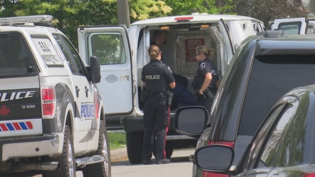 Windsor police arrested four people Sunday afternoon after a seven-hour standoff at a home on Marion Avenue.