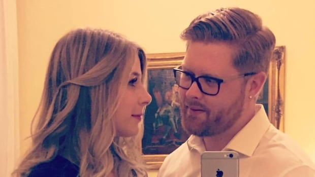 Christine Archibald with her fiancé, Tyler Ferguson. Archibald was one of the victims of the attack in London.