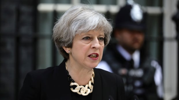 Britain's Prime Minister Theresa May spoke outside 10 Downing Street on Sunday after an attack on London Bridge and Borough Market left seven people dead — including a Canadian — and 21 others critically injured.