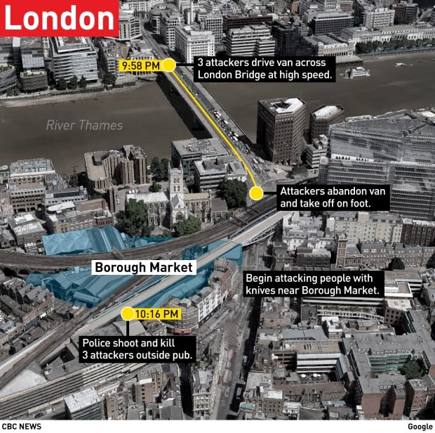 London attack map