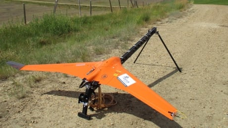 Drone launching near Foremost