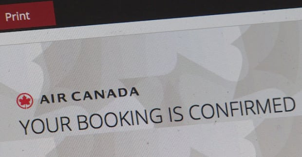 Nina Chung's Air Canada account says her booking is confirmed- airline reps tell her otherwise