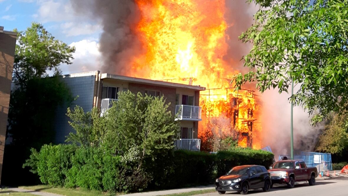 Fire crews battle blaze at building under construction in ...