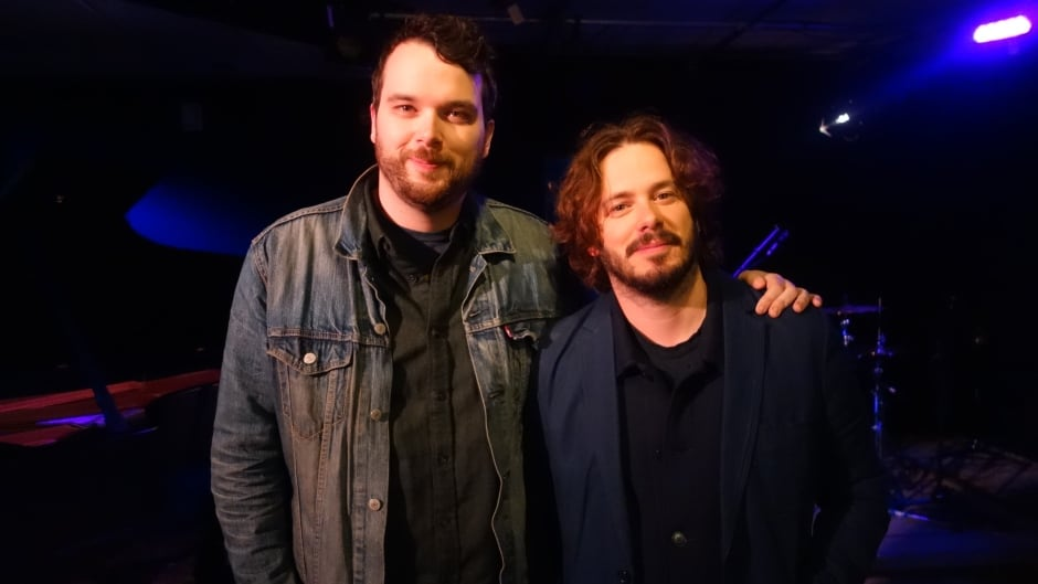 Baby Driver director Edgar Wright with Tom Power in the q studios in Toronto, Ont.