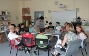 Senior buddy program at Pierre Elliott Trudeau elementary school