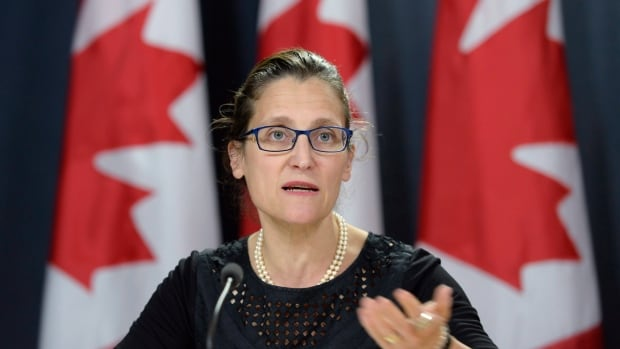 Foreign Affairs Minister Chrystia Freeland says that despite U.S. lumber tariffs she's confident the duties on Canadian producers are punitive and without