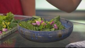 Glorious Organics Celebration Salad with Wild Rose Vinaigrette