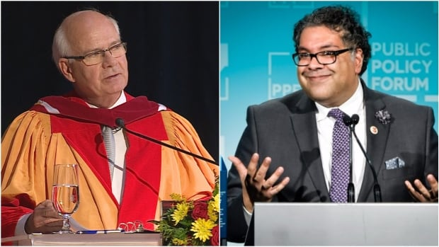 CBC's The National anchor Peter Mansbridge said he was inspired by a speech given by Calgary Mayor Naheed Nenshi at a convention in April.