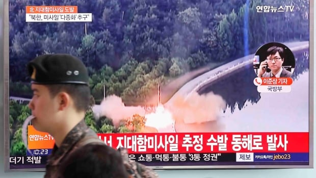 North Korea launched an unidentified projectile into the sea off its east coast on 