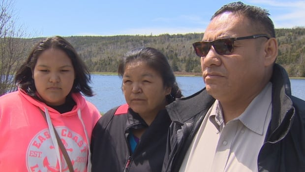 Simeon Tshakapesh, far right, is mourning the loss of his son, Thunderheart Napeu. The father believes his son's death was a result of being removed from home two years ago
