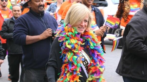 Alberta Premier Rachel Notley has been a fixture at Pride parades in Edmonton and Calgary.