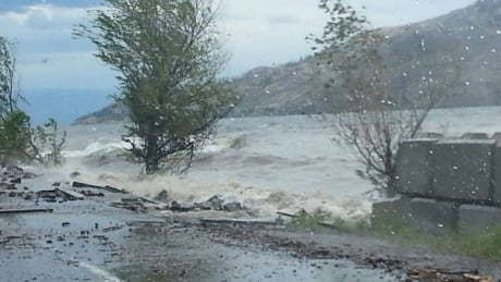Peachland wave damage