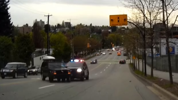 A Vancouver motorist captured a dramatic high-speed chase on video in early May.
