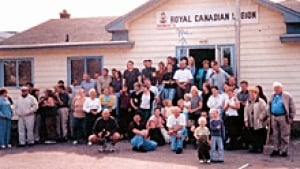 Aer Lingus Passengers stayed at the Gander Legion in 2001